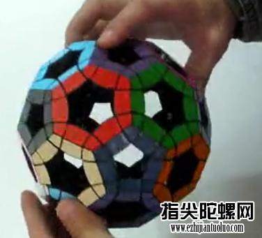 篮球状空心魔方还原教程!高清视频