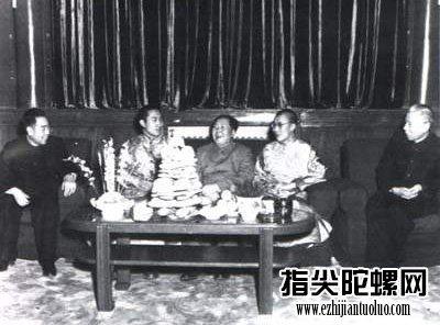 毛泽东、周恩来、刘少奇接见十四世达赖、班禅·额尔德尼。
